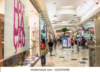 Sao Paulo, Brazil, January 02, 2013. People stroll and shop in a shopping mall in the south zone of Sao Paulo