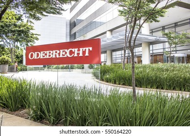 Sao Paulo, Brazil, January 06, 2017. View of facade to Odebrecht companyâ??s office building in Sao Paulo city.