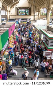 Sao Paulo, Brazil, July 21, 2012. View of People buying at Municipal Market (Mercado Municipal), Sao Paulo, Brazil.