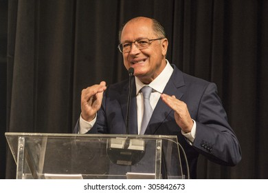 Sao Paulo, Brazil, July 28, 2015. Geraldo Alckmin Governor of Sao Paulo state, during International Poultry and Pork Show, in Sao Paulo, Brazil