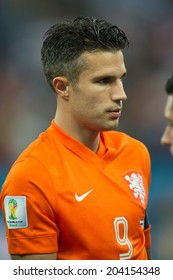 SAO PAULO, BRAZIL - July 9, 2014: Robin van Persie during the World Cup Semi-finals game between Netherlands and Argentina at Arena Corinthians