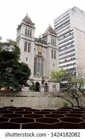 SAO PAULO, BRAZIL - JUNE 10th, 2019: Sao Bento Monastery (in portuguese Mosteiro e Colegio de Sao Bento) in Sao Paulo city, downtown area, Brazil.