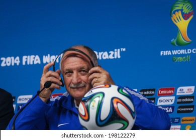 SAO PAULO, BRAZIL � June 11, 2014: Brazil's coach Luiz Felipe Scolari at a press conference one day before the opening game between Brazil and Croatia at Corinthians Arena. No Use in Brazil.