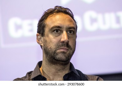 Sao Paulo, Brazil, June 23, 2015: Swiss movie director Frederic Ballif during Press Conference in Sao Paulo