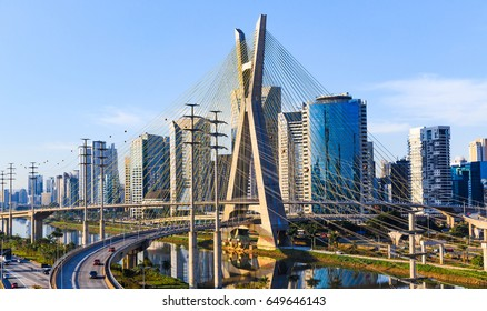 Sao Paulo, BRAZIL - JUNE 6: Sao Paulo is located in the southeast region of Brazil. The metropolis is the most populous city in Brazil, the Americas, and the Southern Hemisphere, on june 6, 2016.