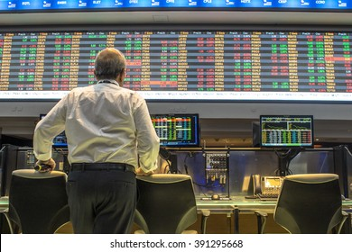 Sao Paulo, Brazil, March 14, 2016. Bovespa Stock Brokers Trading in Sao Paulo, Brazil