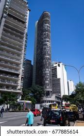 SAO PAULO, BRAZIL - MAY 1, 2017: The Italia Building (Circolo Italiano) located at Avenida Ipiranga avenue, near Square of the Republic in Republica district.