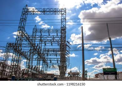 Sao Paulo, Brazil, November 11, 2012. Eletropaulo Electric Power Distribution Transformer Station, in the Mooca neighborhood, in Sao Paulo.