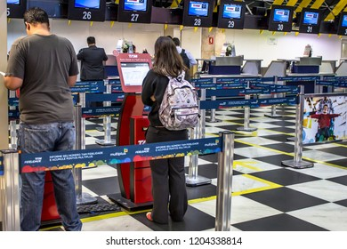 Sao Paulo, Brazil, November 18, 2013. Inside on Congonhas Airport in Sao Paulo