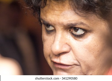 Sao Paulo, Brazil, November 19, 2015. Izabella Teixeira, Brazil Minister of the Environment in press conference.