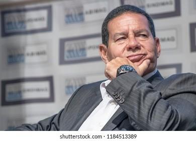 Sao Paulo, Brazil, September 20, 2018. General Hamilton Mourao, vice presidential candidate on the board of Jair Bolsonaro, in press conference, in Sao Paulo.