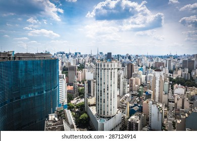 The Sao Paulo city in South America, Brazil