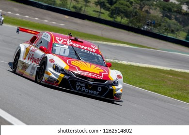 Sao Paulo December 09, 2018 #10 RICARDO ZONTA of Shell V-Power during the final stage of the 2018 championship of the Brazilian Stock Car, at Interlagos circuit, in Sao Paulo, Brazil.