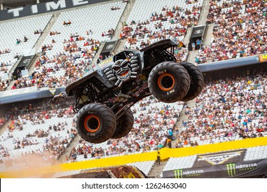 Sao PauloDecember 15, 2018MaxD in action during a round of racing. Monster Jam competition was held at Corinthians Stadium, in Sao Paulo, Brazil.