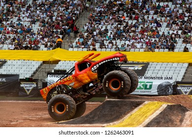 Sao PauloDecember 15, 2018El Toro Loco in action during a round of racing. Monster Jam competition was held at Corinthians Stadium, in Sao Paulo, Brazil.