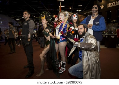 SAO PAULO - DECEMBER 2, 2016: Cosplayer at Sao Paulo Comic Con Experience, the annual pop culture convention in Brazil.