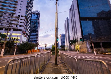 Sao Paulo, March 30, 2018. Marques de Sao Vicente Avenue is an important avenue in the city of São Paulo, Brazil. It starts in the region of Santa Cecilia district, cuts all of Barra Funda until Lapa.