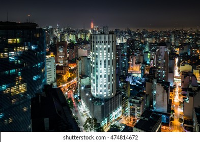 Sao Paulo Night Skyline - Brazil