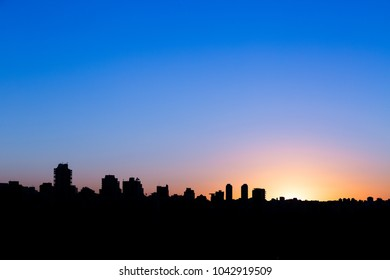 Sao Paulo skyline during sunset