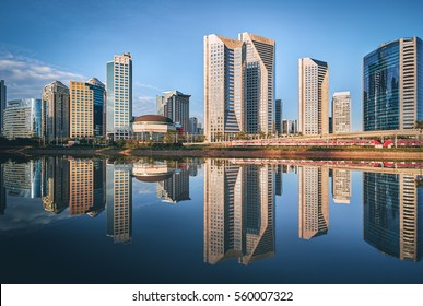 Sao Paulo Skyline Reflection - Brazil - South America