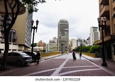 Sao Paulo, SP / Brazil - 01/25/2019: Tourists walking on Viaduto do Cha in the 465 Sao Paulos' aniversary.
