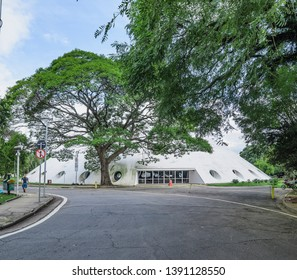 Sao Paulo SP, Brazil - March 02, 2019: Exhibition space known as Oca do Ibirapuera (hut of Ibirapuera).