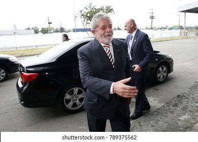 Sao Paulo, SP, Brazil - oct 07, 2009 - Luiz Inacio Lula da Silva is a Brazilian politician and current candidate for presidential elections, during a visit to transport fair