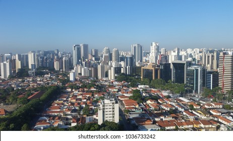 Sao Paulo view from above, buildings and homes South America Brazil