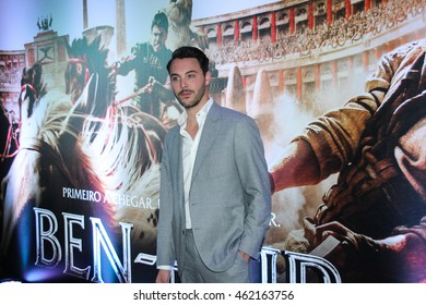 "SAO PAULO,AUGUST 01, 2016: Actor Jack Huston attends the Sao Paulo city premiere of ""Ben-Hur"" at Cinepolis Theater."