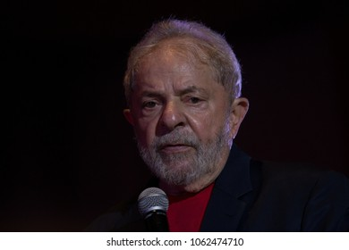 Sao Paulo/Sao Paulo/Brazil jan, 18 2018 Former President of Brazil, Lula da Silva, participates in a meeting with artists, and supporters to defend the right to be a candidate in the next elections.