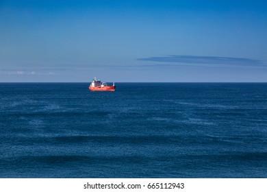 Sao Rogue, Azores, Portugal - May 16, 2017: Coast Sao Rogue on Sao Miguel island, Azores archipelago in the Atlantic Ocean belonging to Portugal