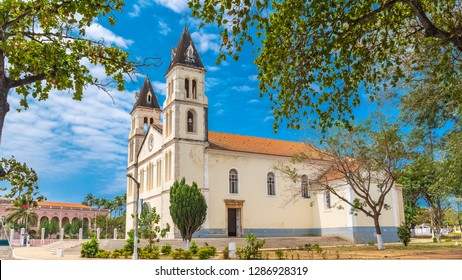 Sao Tome, the beautiful white cathedral in the center, Sao Tome and Principe