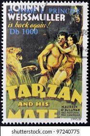 SAO TOME - CIRCA 1995: A stamp printed in Sao Tome shows Tarzan, circa 1995