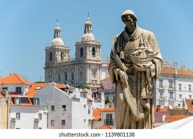 Sao Vicente Statue in Alfama district, Lisbon