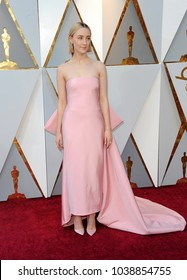 Saoirse Ronan at the 90th Annual Academy Awards held at the Dolby Theatre in Hollywood, USA on March 4, 2018.