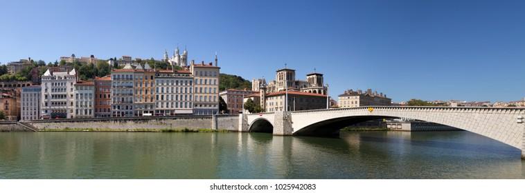 Saone river in Lyon - France