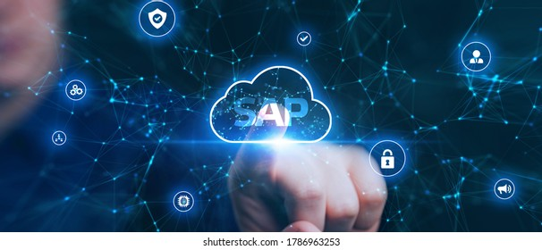 SAP System Software Automation concept on virtual screen data center. Business, modern technology, internet and networking concept. - Shutterstock ID 1786963253