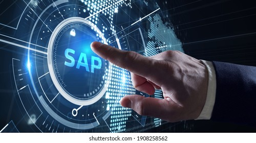SAP System Software Automation concept on virtual screen data center. Business, modern technology, internet and networking concept. - Shutterstock ID 1908258562