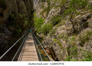 The Sapadere canyon in the Taurus mountains, Alanya, Turkey