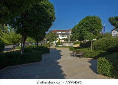SAPAREVA BANYA, BULGARIA- AUGUST 13, 2013: Center of Spa Resort of Sapareva Banya, Bulgaria