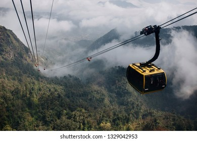 SaPa,Vietnam - Cable Car at Fansipan, the best view sapa in vietnam