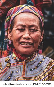 SAPA/VIETNAM - DECEMBER 2016 - Hmong tribes at the Can Cau sunday market in the north of Vietnam