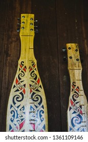 """The sape' (sampek, sampeh, sapek) is a traditional lute of many of the Orang Ulu or """"upriver people"""", mainly the """"Kayan"""" and """"Kenyah"""" community who live in the longhouses that line the rivers."""