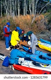 Sapelo Island, Georgia, USA, put-in for Kayaking Blackbeard Creek, March 15, 1997