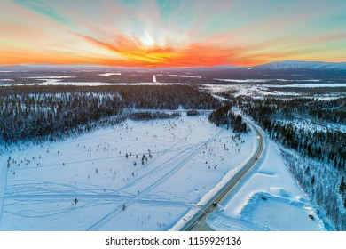 Sapmi/Lapland, is the cultural region traditionally inhabited by the Sami people. The largest part of Lapland lies north of the Arctic Circle. Sunset Levi is ski resort in Finland