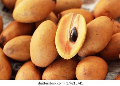 Sapodilla Fruit in the market