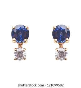 Sapphire CZ Stud Earrings