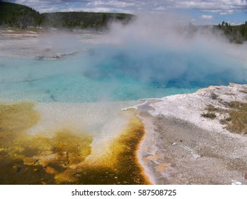 Sapphire Pool in Biscuit Geyser Basin, Yellowstone National Park