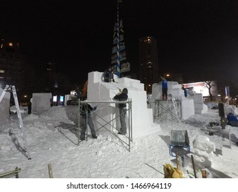 Sapporo city /Japan : February 3 2019:46th International Snow Sculpture in Sapporo