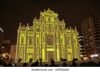 SAPPORO HOKKAIDO JAPAN - FEBRUARY 5, 2016 : A lot of people come to see the snow festival. This romantic town on February 5, 2016 at Odori Park Sapporo, Japan